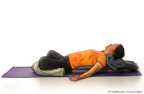 reclining bound angle yoga reclining bound angle pose