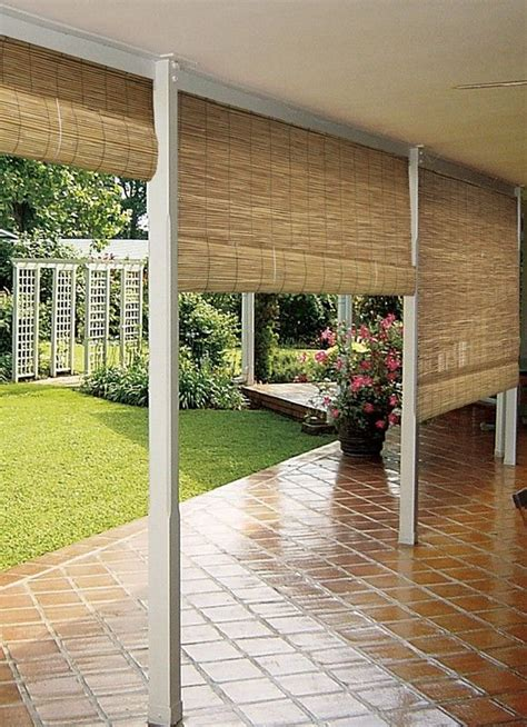 shade curtains for patios 8 best patio bamboo roll up blinds images on pinterest