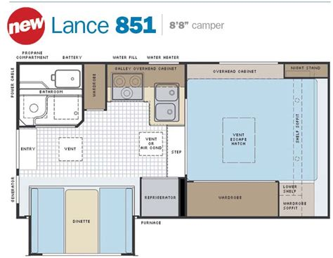 slide in cer floor plans slide in truck cers by lance cer manufacturer
