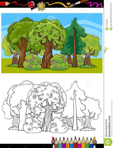 libro el bosque de los 193 rboles e historieta del bosque para el libro de colorear fotos de archivo libres de regal 237 as