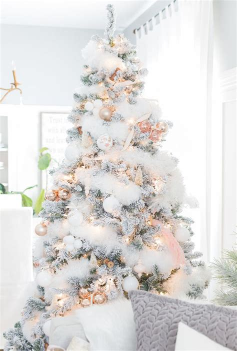 top white christmas tree decorations christmas celebrations
