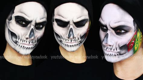 tutorial skull chicago blackhawks skull makeup tutorial