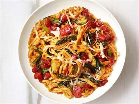 vegetables pasta roasted vegetable pasta recipe food network kitchen