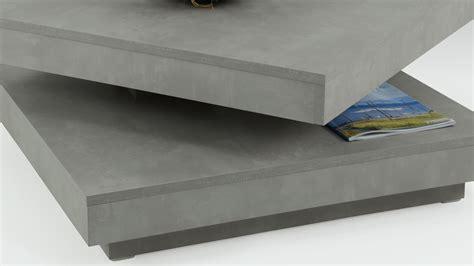 couchtisch ben in betonoptik tisch drehbare platte - Platte Betonoptik