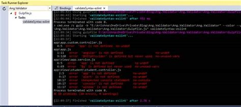gulp format html automate angular js javascript code analysis with eslint