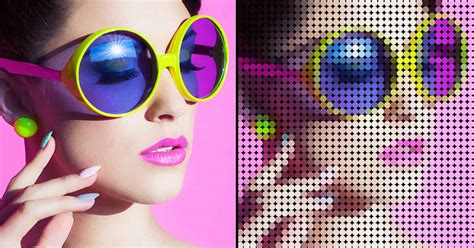 photoshop dot pattern effect turn a photo into a pattern of color dots with photoshop