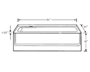 Length Of Standard Bathtub by Standard Size Of Bathtub Crowdbuild For