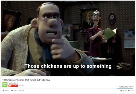 Chicken Running Meme - those chickens are up to something 10 conspiracy