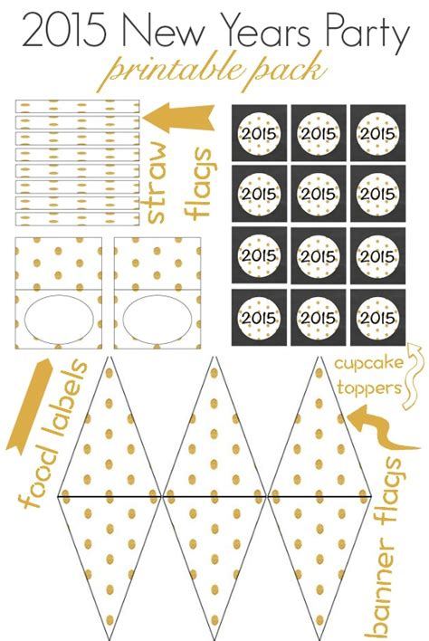 new year 2015 printable images 20 new years free printables lolly