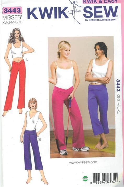 yoga pants pattern simplicity sewing pattern misses out of print pattern yoga pants