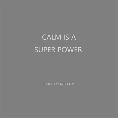 Is A by Calm Is A Power Ratethequote