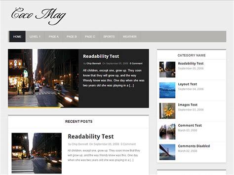 free wordpress layout editor coco mag free responsive news magazine blog premium