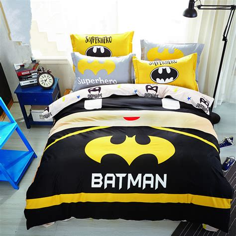 Batman Toddler Bedding Set Aliexpress Buy Baby Boys Batman Bedding Set Superman Duvet Cover Sheet