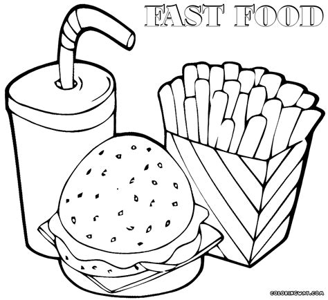 fast food coloring pages coloring pages to download and