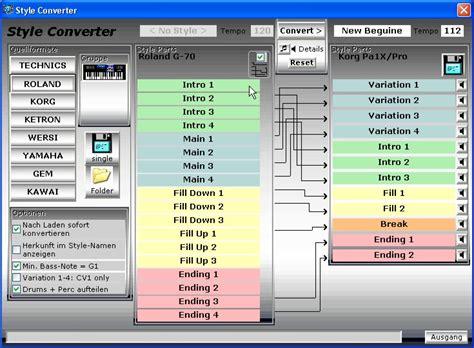 style format 2 converter yamaha emc style works xt programmbeschreibung