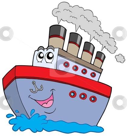 boat browser cookies cartoon boat stock vector