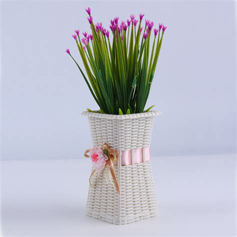 flower vase decoration home reusable plastic flower vase home decoration delicate designed vase mr
