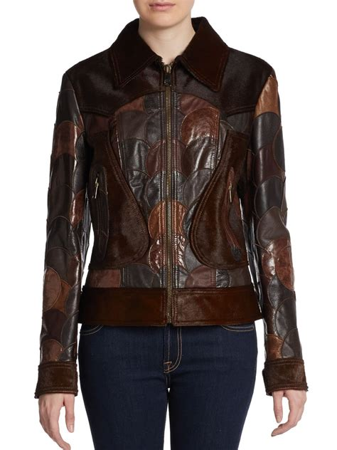 Patchwork Leather Jacket - dolce gabbana patchwork calf hair leather jacket in