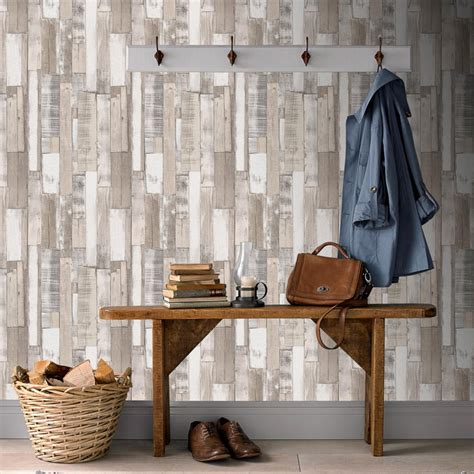 rasch planks wallpaper neutral decorating diy
