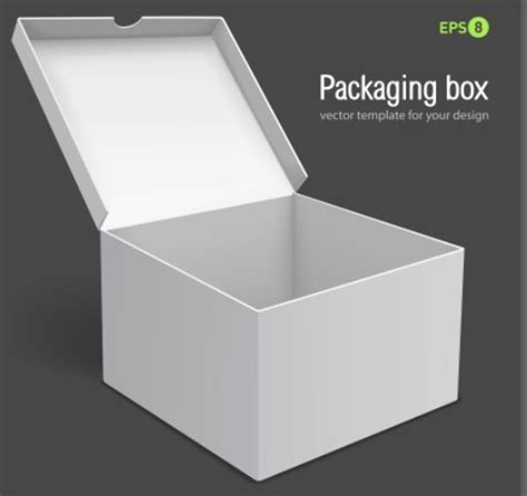 free 3d white packaging box vector template titanui