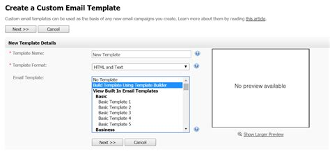drag and drop template builder for interspire email