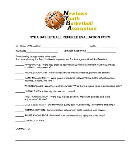 Release Letter For Player 12 Free Basketball Evaluation Forms Free Premium