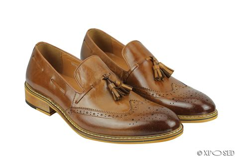 mens brogue loafers new mens real leather tassel brogue vintage smart casual