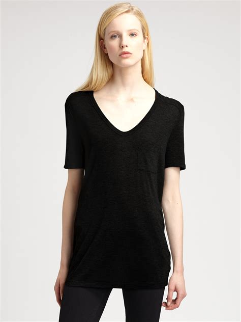 Black Pocket lyst t by wang classic pocket in black