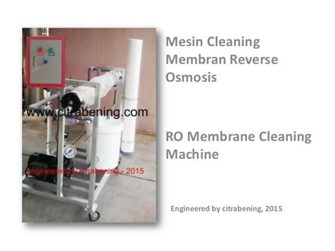 Mesin Clean mesin cleaning membran osmosis