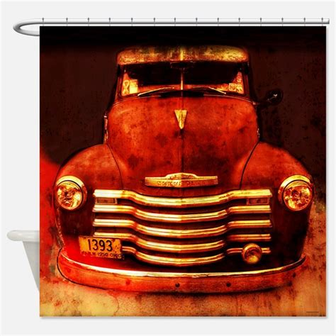 Truck Shower by Vintage Truck Shower Curtains Vintage Truck Fabric