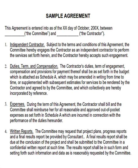 Agreement Letter For Delivery Service Contract Sle In Pdf 10 Exles In Pdf