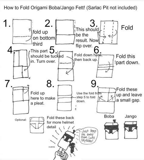 How To Fold An Origami Yoda - origami bobajango instrux origami yoda