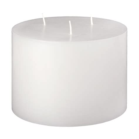3 Wick Candles 6x4 Unfragranced 3 Wick Pillar Candle Unscented White