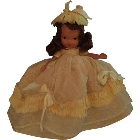 bisque doll painted painted bisque nancy storybook doll from shirleydoll