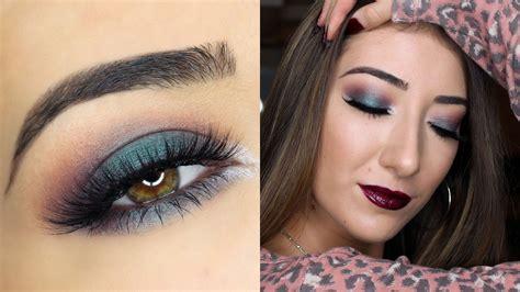 eyeshadow tutorial makeup geek green smokey fall makeup tutorial makeup geek cosmetics