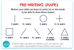 handwriting pre writing shapes for preschoolers