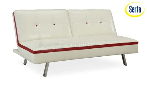 sofa bed insert ivory bicast modern sofa bed w inserts metal legs