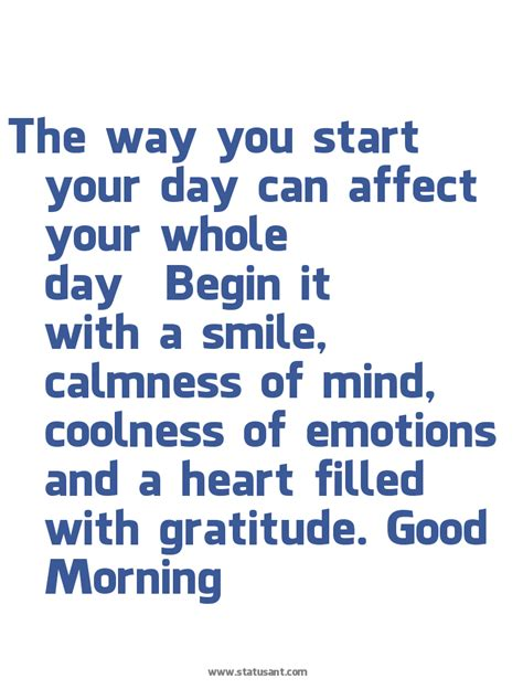 What A Way To Start A Day by Quotes To Start Your Day With Smile Quotesgram
