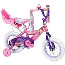 Huffy disney princess girls bike with doll carrier