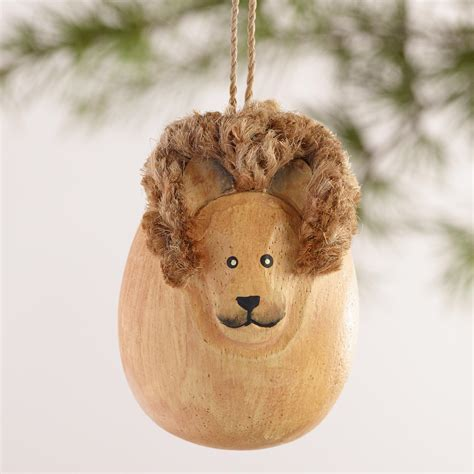 animal ornaments wood egg shaped safari animal ornaments set of 4 world