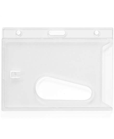 Id Card Holder Tali 1 clear enclosed rigid id card holder holds cr80 86 x 54 mm