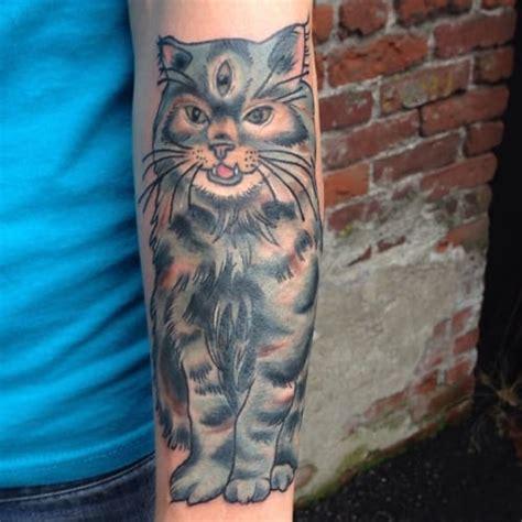 cat tattoo universe 8 trippy three eyed cat tattoos tattoodo