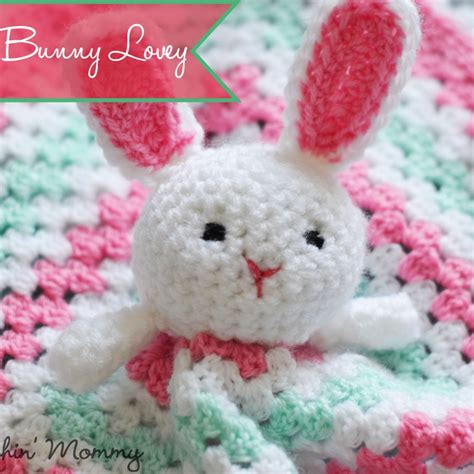 bunny lovey crochet pattern free baby blankets and toys archives the stitchin mommy