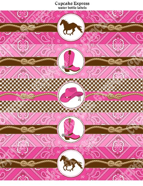 printable cowgirl party decorations cowgirl water bottle labels birthday party printable bridal