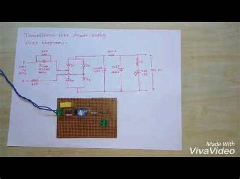 led driver cd4017be circuits youtube transformer less power supply with circuit diagram youtube