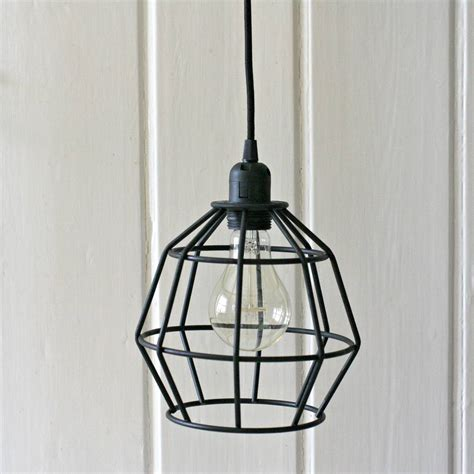 Geometric Pendant Lights Black Geometric Pendant Light By Magpie Living Notonthehighstreet