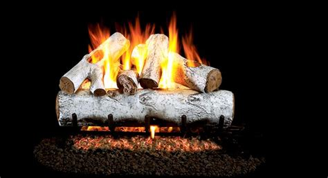 birch gas fireplace logs wg46 30 peterson real fyre white birch vented gas logs set