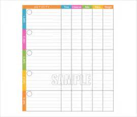 free exercise log template doc 535684 exercise log template free printable