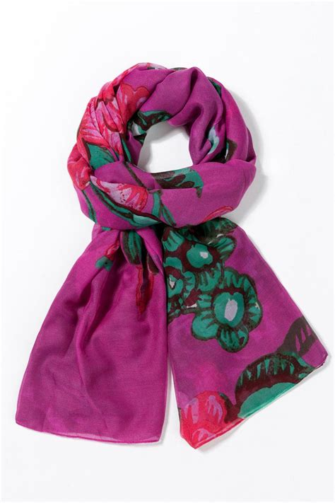 desigual pink scarf from florida by i tesori shoptiques