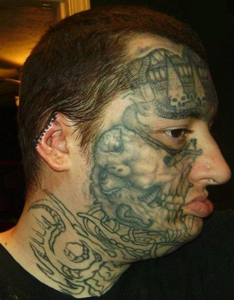 worst face tattoos 55 worst tattoos jaw dropping
